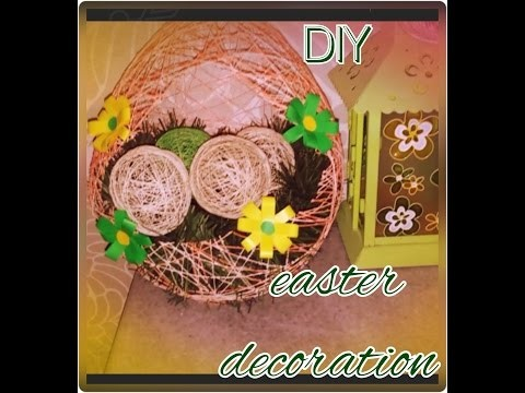 Easter eggs decoration DIY craft tutorial
