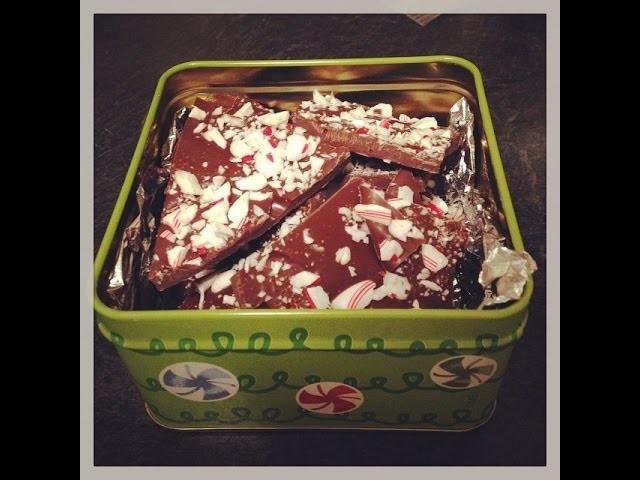 Easy DIY Holiday Gift! Chocolate Peppermint Bark!!!