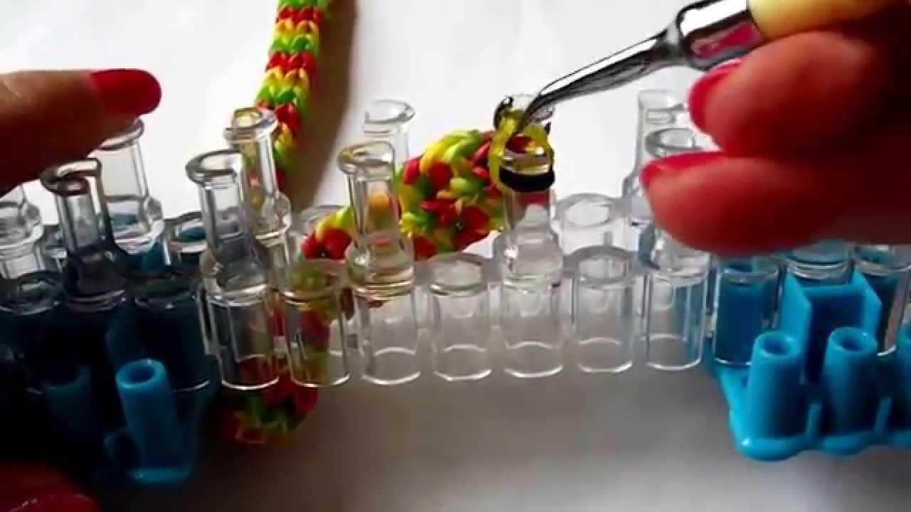 Flat Quadfish Bracelet tutorial pt2 - Using the Rainbow Loom