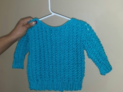 How to knit an easy baby sweater from 8 to 24 months. With Ruby Stedman