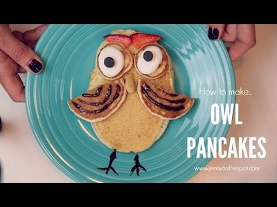How To Make Owl Pancakes | Food Craft | Jenny On The Spot