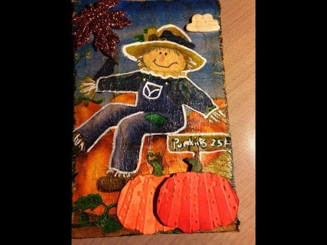 #love fall art- Easy altered paperbag