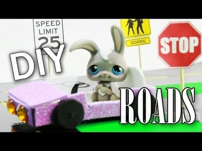 Miniature Roads and Traffic Signs Tutorial - DIY for LPS and Dolls