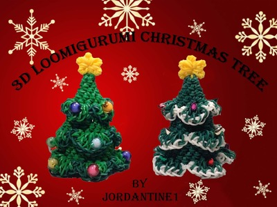 New Loomigurumi. Amigurumi Evergreen Christmas Tree - Rainbow Loom - Rubber Band Crochet - Hook