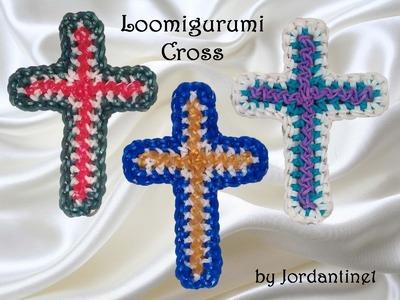 New Loomigurumi Cross - Rubber Band Crochet - Easter. Christmas Religious - Rainbow Loom - Hook
