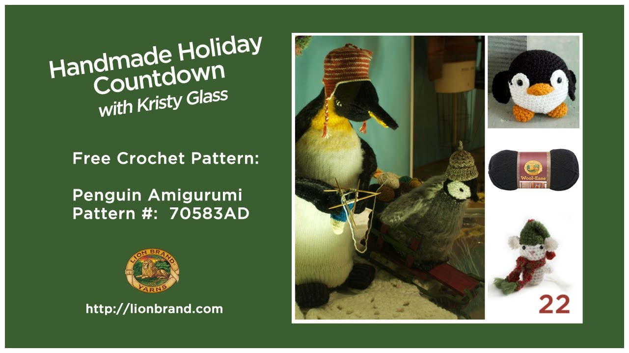 Perfect stocking stuffer, a penguin amigurumi!! Lion Brand's Handmade Holiday Countdown #22
