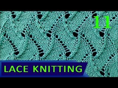 Scroll   Lace Knitting Stitch #11 - Reversible