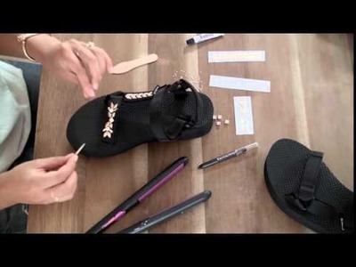 Teva - Give your sandals some DIY dazzle this holiday!