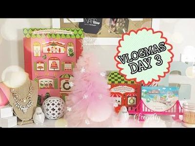 Vlogmas Day 3 ❄ Dinner with Hubbs & Xmas Tree DIY! - bebedollTV Vlog 2014