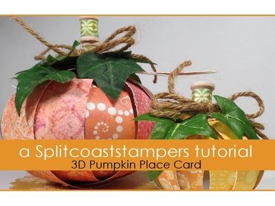 3D Pumpkin Place Card