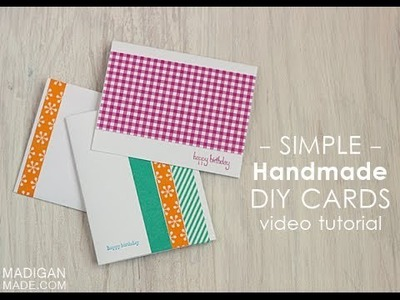 Easy Handmade DIY Cards