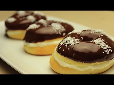 Easy Homemade Baked Chocolate Ring Donuts Recipe