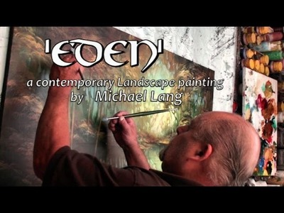 'EDEN' Landscape Art Modern Contemporary Painting Mix Lang How to DEMO