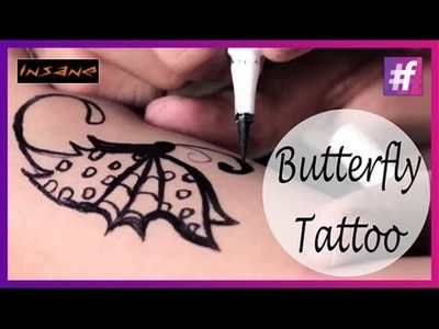 How To Draw A Butterfly Tattoo | Sexy Tattoo For Girls