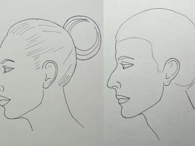 How to Draw a Face in Profile Easily - Male and Female