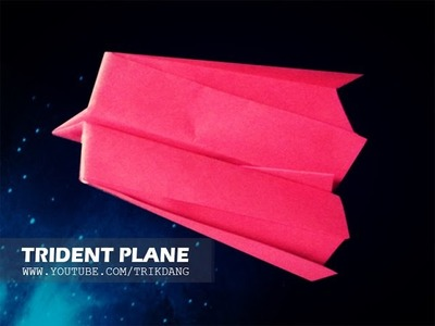 How to make a PAPER AIRPLANE that FLIES - Simple Origami for Kids| Trident