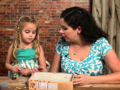 Make a Kid's Garden Stepping Stone - HGTV - Weekday Crafternoon