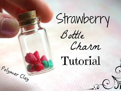 Mini Strawberry Bottle Charm Tutorial !