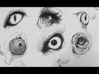 Pen & Ink Drawing Tutorials | How to draw realistic animal eyes