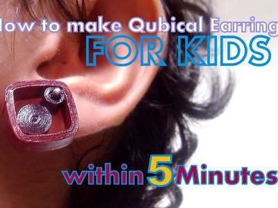 Quilled Designer Jewellery Making - Cubic Earring - Within 5 Minutes