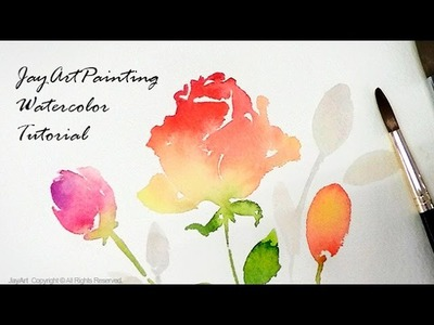 Rose Watercolor Painting Tutorial - Level 3
