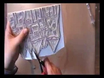 Stamp carving, for the art journal café