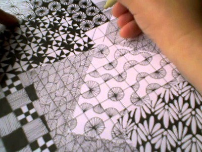 Zentangle Pattern Samplers 1 | For Beginners - Part 4