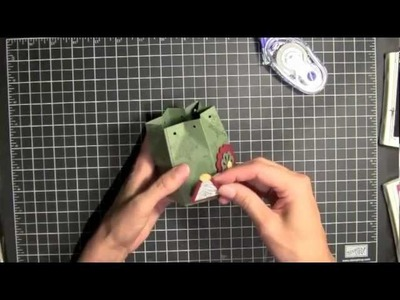 Christmas Altered Mini Milk Carton Box