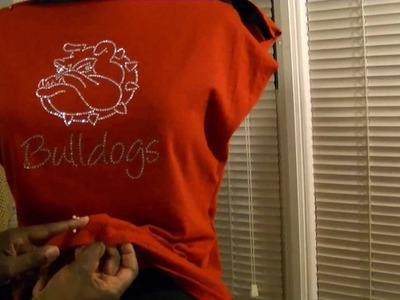 DIY T-Shirt Conversion Into Cute Stylish Rhinestone Top