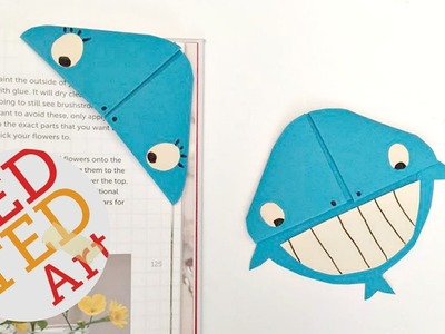 Easy Whale Bookmark Corner DIY