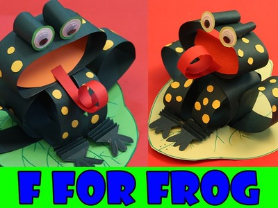 F for Frog | Alphabet Animal Paper Crafts