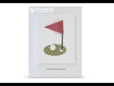 Fore! Golf card featuring Stampin Up punches