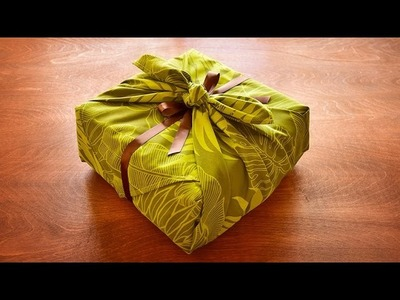 Gift Wrapping in One Minute!? Beautiful Fabric Wrapping for Lunch Box, Gift Box, and Many More!
