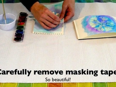 How to make a beautiful snowflake painting.