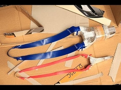 How to make a powerful paper cardboard slingshot for steel BB's
