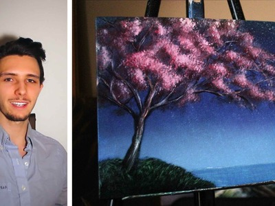 How to paint a cherry blossom tree! A basic speed painting tutorial of a cherry tree for beginners