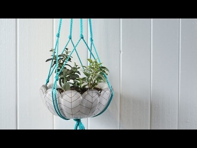 Make a Macramé Plant Hanger in Minutes