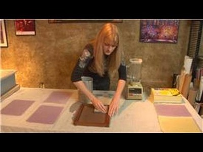 Making Handmade Paper : Handmade Paper Drying