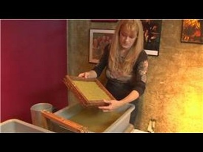 Making Handmade Paper : Handmade Paper Mold & Dackle Setting