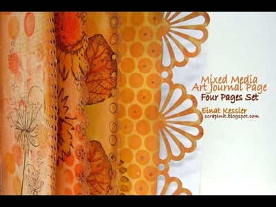 Mixed Media Art Journal: 4 Pages Set