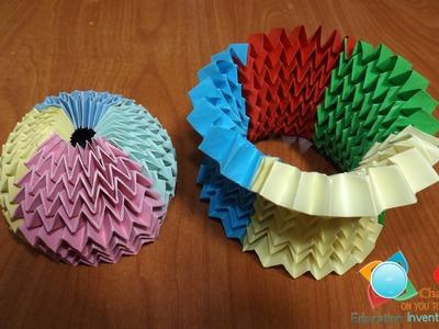 Origami Magic ball-tutorial- multi color method