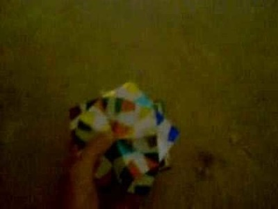 Shiny Paper Sonobe Small Triambic Icosahedron Variation (Modular Origami)