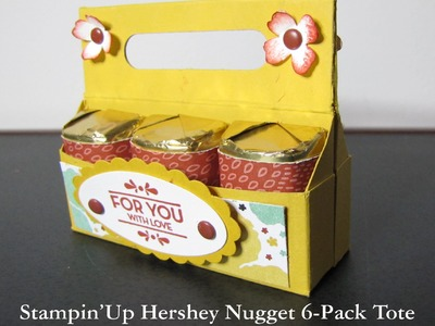 Stampin'Up Hershey Nugget 6 pack Tote with Botanical Gardens DSP
