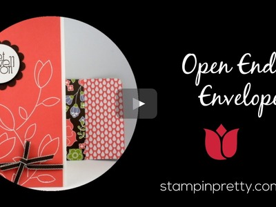 Stampin' Up! Tutorial: How to Create an Open-Ended Envelope