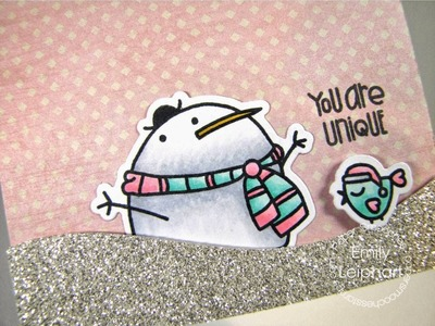 Start-to-Finish card with Paper Smooches' Swanky Snowdudes stamps and dies