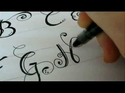 The Missing Fancy Swirled Letter