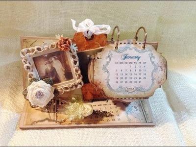Vintage Shabby Desktop 2014 Calendar DT Project