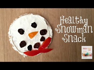 After School Snack   Healthy Snowman Treat