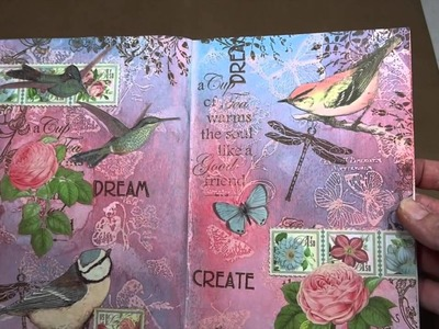 Art Journaling with Graphic 45's Botanical Tea