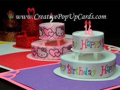 Birthday Cake Pop Up Card
